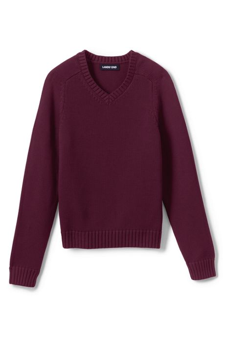 School Uniform Kids Cotton Modal V-neck Sweater
