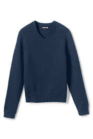 Little Kids Cotton Modal V-neck Sweater