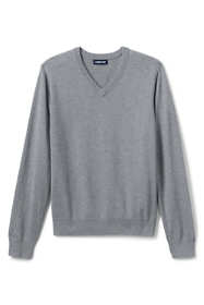 School Uniform Men's Cotton Modal Fine Gauge V-neck Sweater