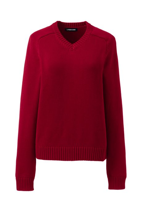 School Uniform Women's Cotton Modal V-neck Sweater