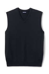 School Uniform Men's Cotton Modal Fine Gauge Sweater Vest