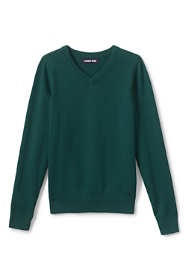 Boys Cotton Modal Fine Gauge V-neck Sweater
