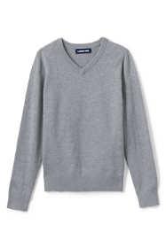 School Uniform Little Boys Cotton Modal Fine Gauge V-neck Sweater