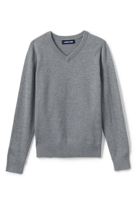 School Uniform Boys Cotton Modal Fine Gauge V-neck Sweater