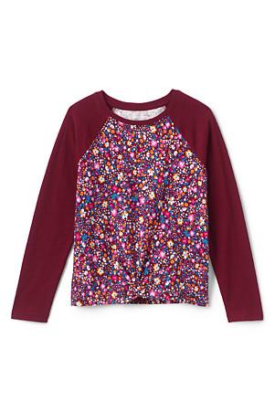 promo code ef0e4 19d08 Shirt Langarm mit Knotensaum für Mädchen   Lands' End