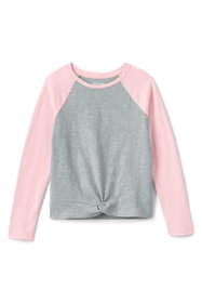 Girls Plus Size Knot Front Top