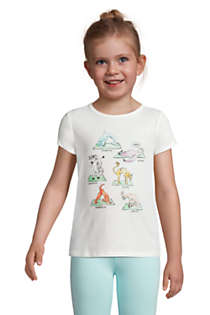 Girls Graphic Tee Shirt, Front