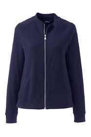Women's Plus Size French Terry Bomber Jacket