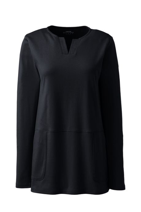 Women's Cotton Polyester Long Sleeve Tunic with Pockets