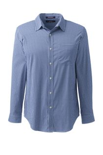 Men's Long Sleeve Straight Collar Pattern Stretch Shirt