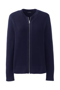 Women's Cotton Modal Zip Cardigan Jacket