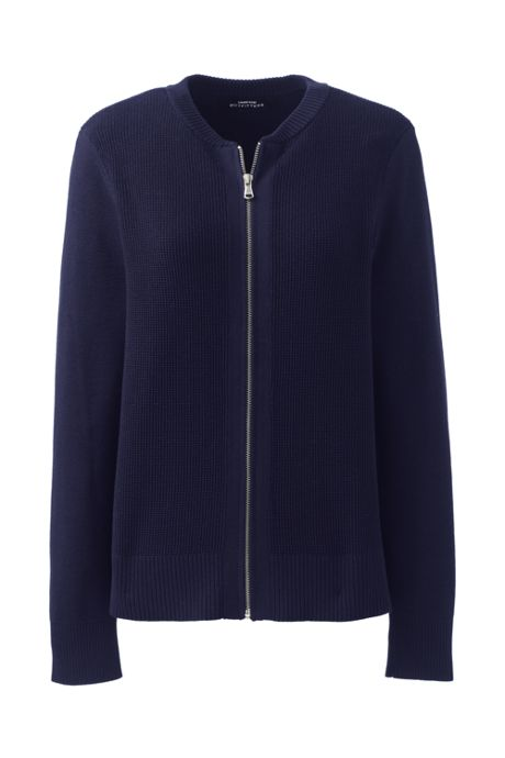 Women's Cotton Modal Zip Cardigan Jacket