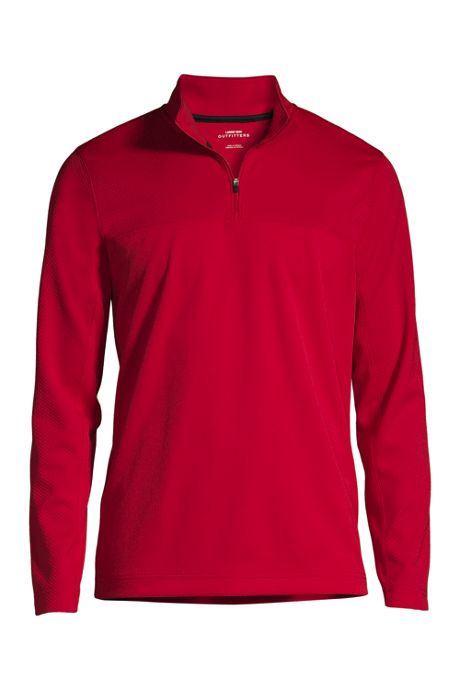 Men's Big Textured Quarter Zip Pullover
