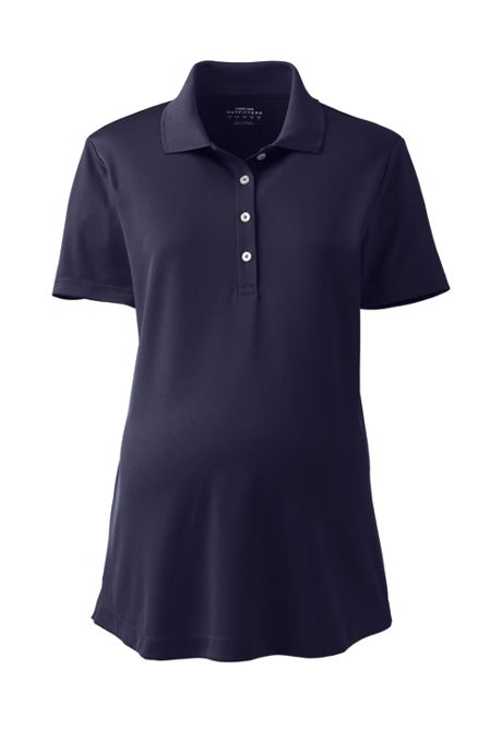 Women's Maternity Active Solid Polo