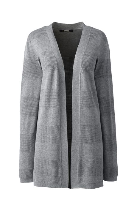 Women's Cotton Modal Texture Drape Cardigan