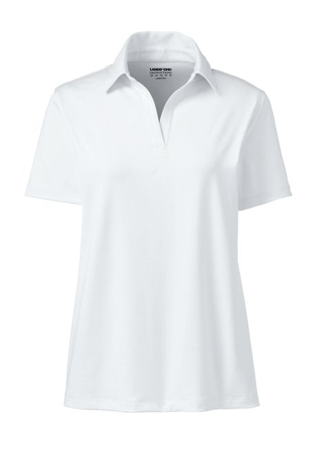 Women's Plus Size Short Sleeve Rapid Dry Sport Neck Polo Shirt