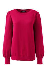 Women's Cotton Modal Blouson Sleeve Sweater