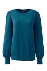 Women's Plus Size Cotton Modal Blouson Sleeve Sweater