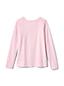 Gemustertes Jersey-Shirt Langarm für große Mädchen