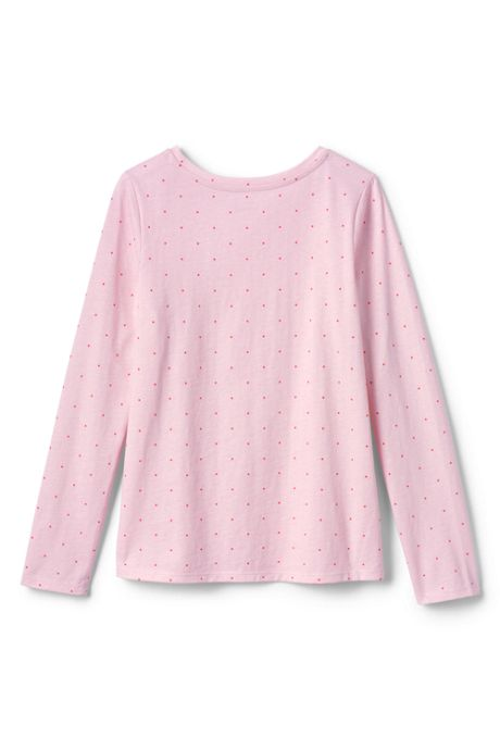 Toddler Girls Long Sleeve Pattern Tee Shirt