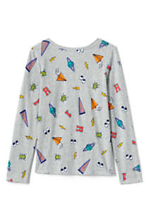 Girls Long Sleeve Pattern Tee Shirt, Back