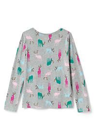 Girls Long Sleeve Pattern Tee Shirt - secondary