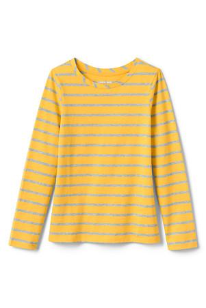 cff4bb1c5314 Little Girls' Long Sleeve Print Jersey T-shirt   Lands' End