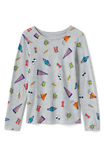 Girls Long Sleeve Pattern Tee Shirt, Front