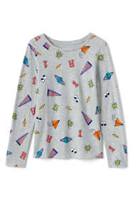 Girls Long Sleeve Pattern Tee Shirt