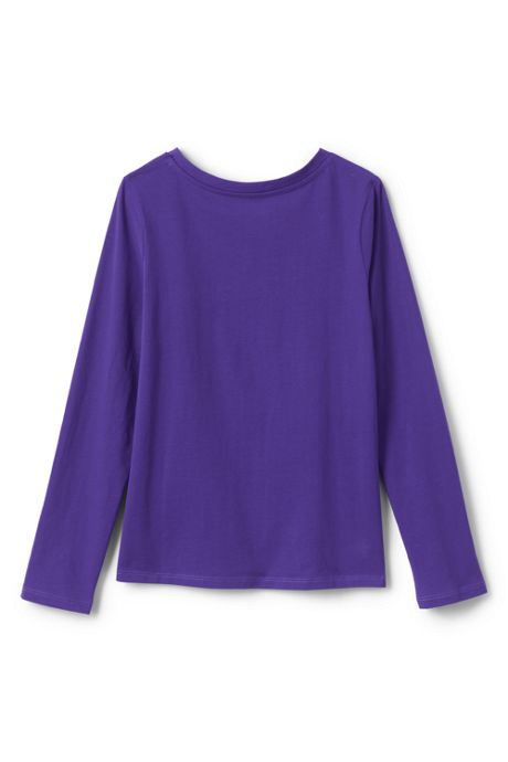 Girls Plus Size Long Sleeve Solid Tee Shirt