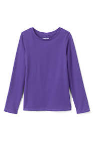 Girls Long Sleeve Solid Tee Shirt
