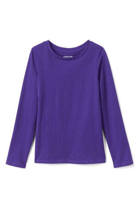 Little Girls Long Sleeve Solid Tee Shirt