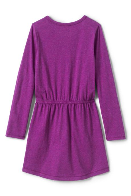 Little Girls Fit & Flare Graphic Dress