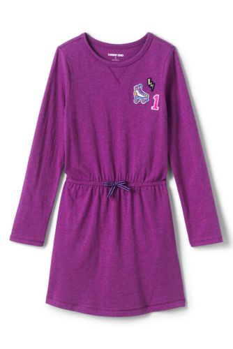 Little Girls' Graphic Cinched Waist Dress