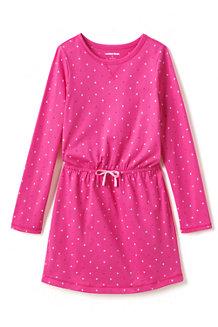 Girls' Patterned Cinched Waist Dress