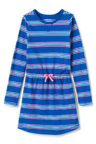 Girls Cinched Waist Pattern Dress
