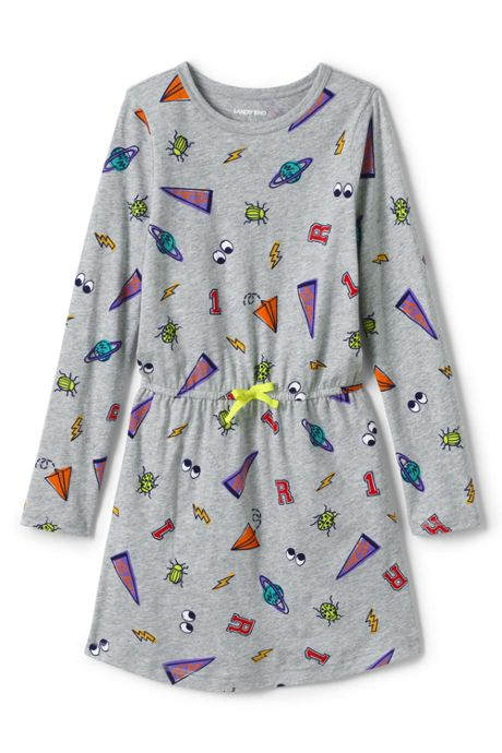 Little Girls Fit & Flare Pattern Dress
