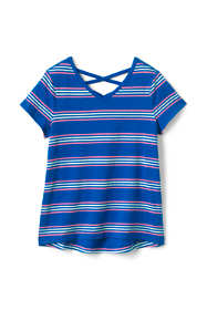 Girls Lattice Back Tee Shirt