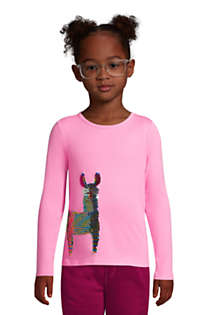 Little Girls Flip Sequin Graphic Tee Shirt, alternative image