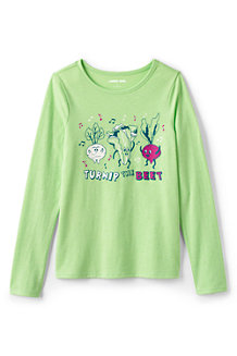 Girls' Long Sleeve Graphic T-shirt