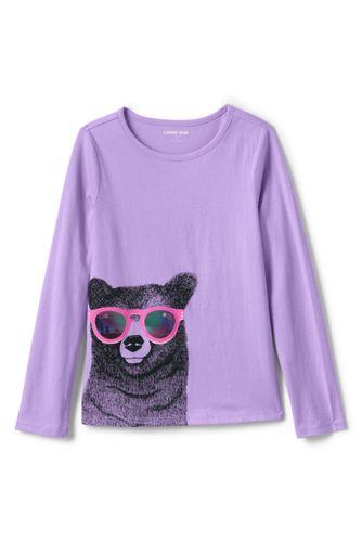 T-Shirt Graphique Pailletté, Petite Fille