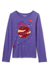 Girls Flip Sequin Graphic Tee Shirt