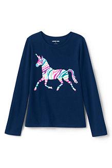 Shirt Langarm mit Wendepailletten für Mädchen