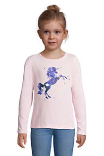 Little Girls Graphic Tee Shirt, Front