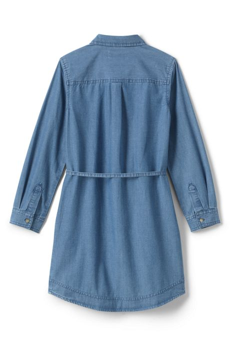 Little Girls Chambray Shirt Dress