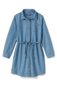 Girls Plus Size Chambray Shirt Dress