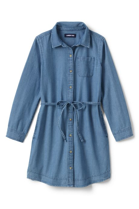 Girls Plus Size Chambray Shirt Dress, Dresses, Dresses, Clothing, Girls