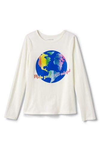 T-Shirt Graphique à Manches Longues, Petite Fille