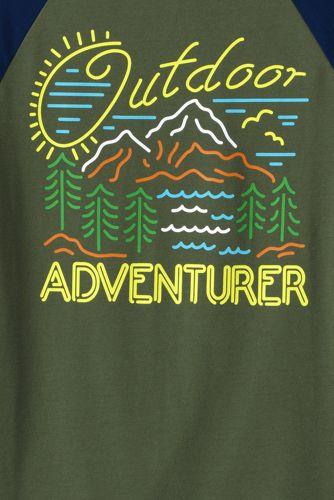 Boys Raglan Graphic Tee Shirt