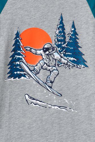 Toddler Boys Raglan Graphic Tee Shirt